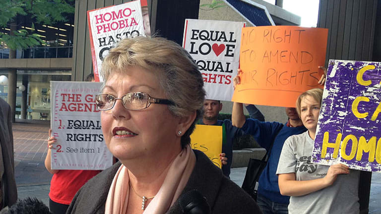 Shelley Argent of the PFAG said she was pleasantly surprised by the Newman government's decision on same-sex civil unions.