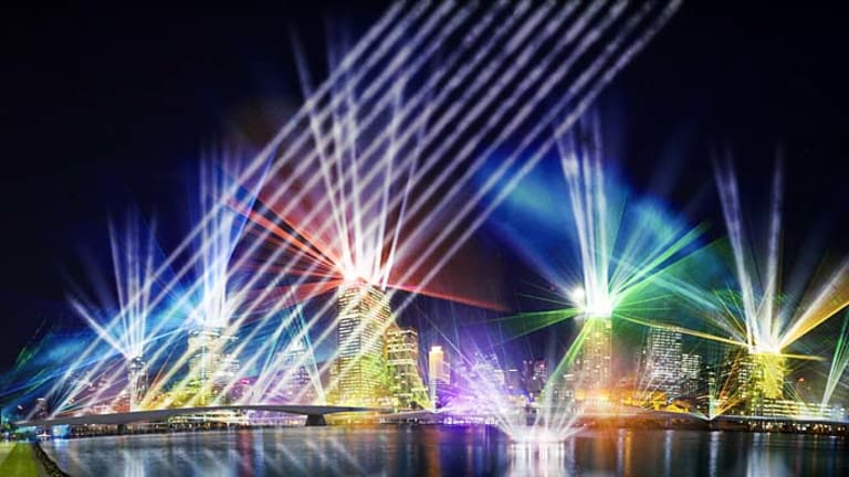 An artist's impression of the laser light show.