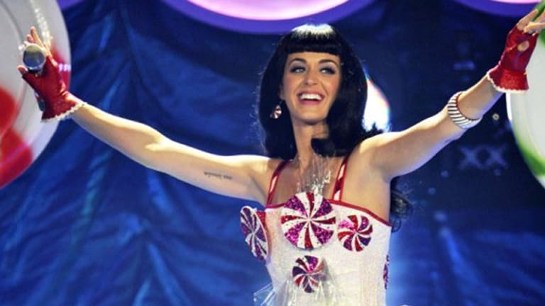 Katy Perry: grilled Tony Abbott over gay marriage.