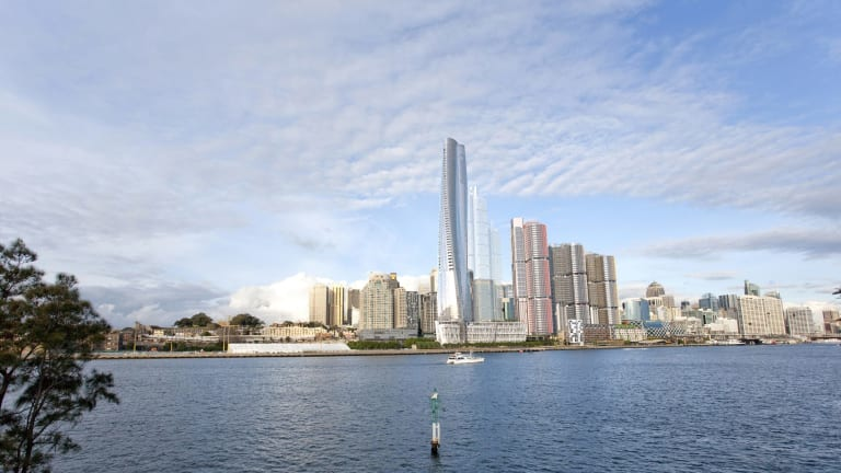 The Crown casino and hotel will be the tallest building in Sydney and has been compared to Blues Point Tower, an unloved apartment building designed by Harry Seidler.