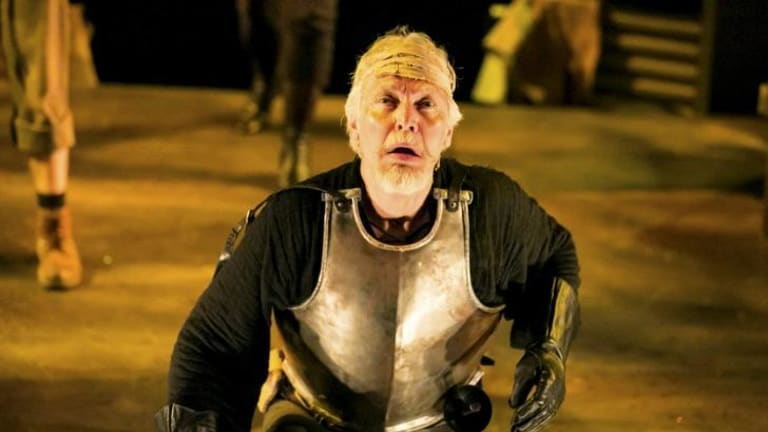 He's the Man: Tony Sheldon excels as both Cervantes and, here, Don Quixote.