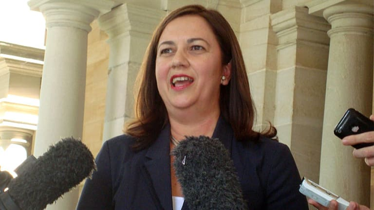 Annastacia Palaszczuk faces the media this week.