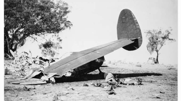 Ten people including three federal ministers and the Chief of the General Staff, were killed at Canberra on 13 August, 1940.