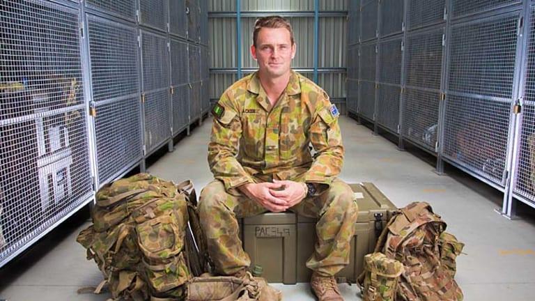Packed for action: Former Brisbane Roar player Andrew Packer.