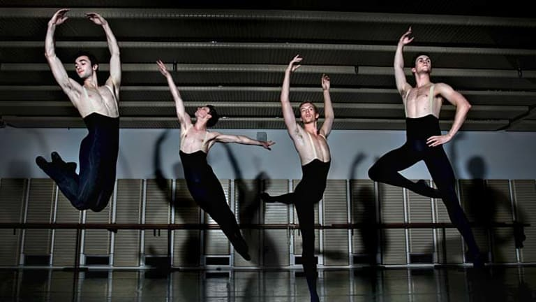 Quantum leap: The number of men taking up ballet dancing has soared in recent years, although they say they still have to put up with stereotyping.