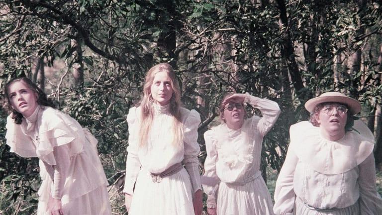Karen Robson (Irma), Anne Lambert (Miranda), Jane Vallis (Marion) and Christine Schuler (Edith) in Peter Weir's 1975 film.