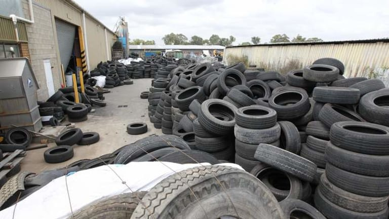 Facing expulsion: Carbon Polymers tyre dump on Woodpark Park Road, Smithfield.