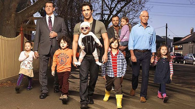 Second season ... the cast of <i>House Husbands</i>.