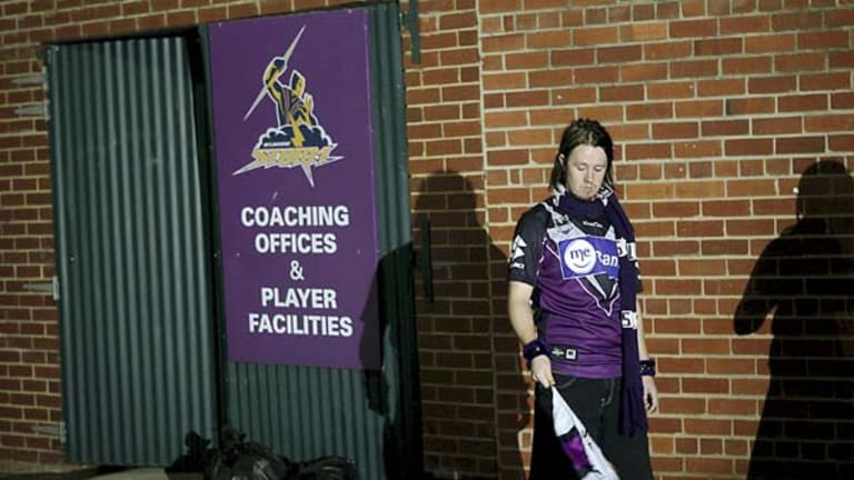 Not happy ... Storm fans had started to return merchandise in disgust yesterday.