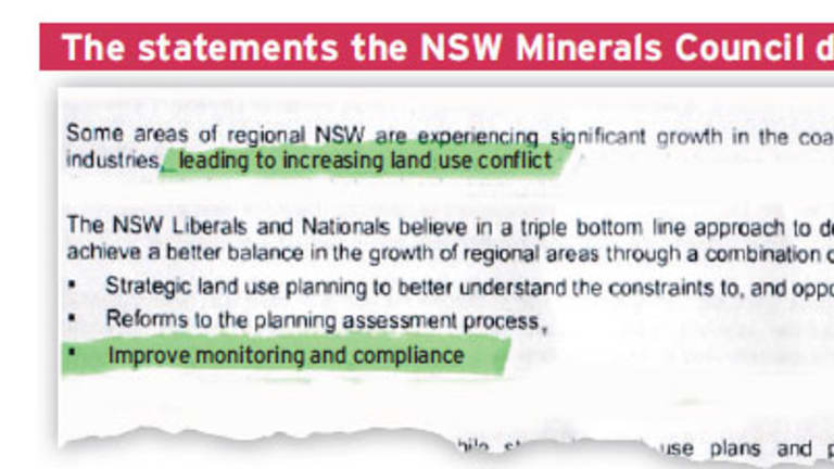 The NSW Liberals and Nationals Strategic Regional Lands Use Planning Policy document.