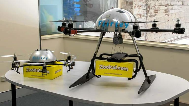 The Flirtey drones will come in two sizes.