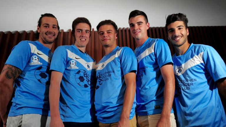 Belconnen United recruits Matt Grbesa, Ben Van Meurs, Ross Costanzo, Conor Nolan and Jordan Tsekenis are pleased with the decision to automatically progress to the quarter-finals of ACT FFA Cup qualifying.