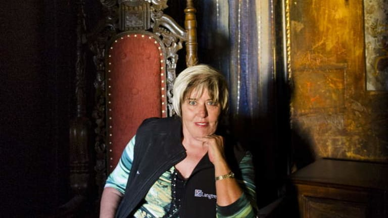 Mary-Anne Kenworthy, sitting in the Arabian Nights room at Langtrees, is Australia's most experienced brothel madam.