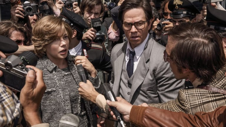 All the Money in the World: Michelle Williams and Mark Wahlberg.