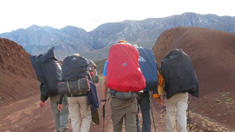 Hikers with Condor Trekkers take in some of Bolivia's spectacular scenery.