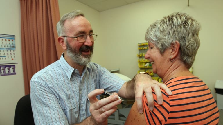 Immunisation against the flu is free for pregnant women and those aged 65 and over.