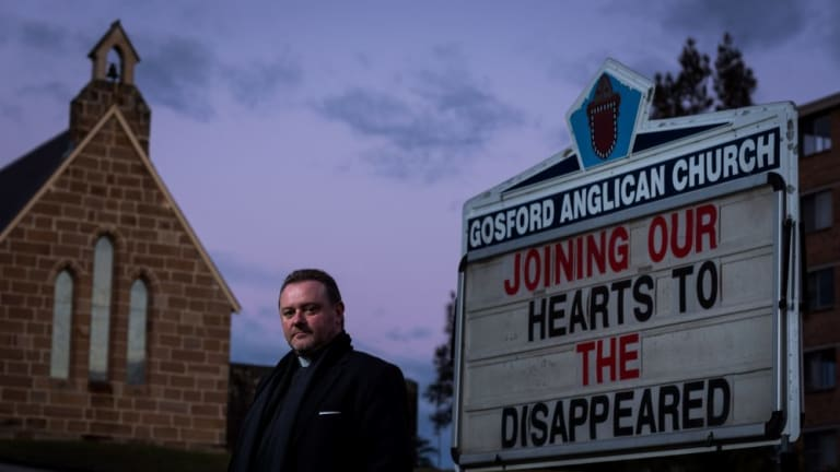Father Rod Bower at Gosford.