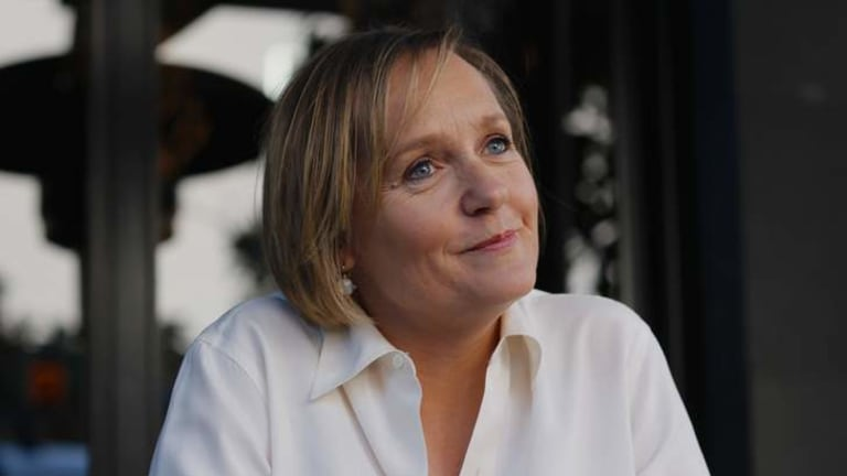 Steely calm, well-mannered, forensic interviewing: Sarah Ferguson.