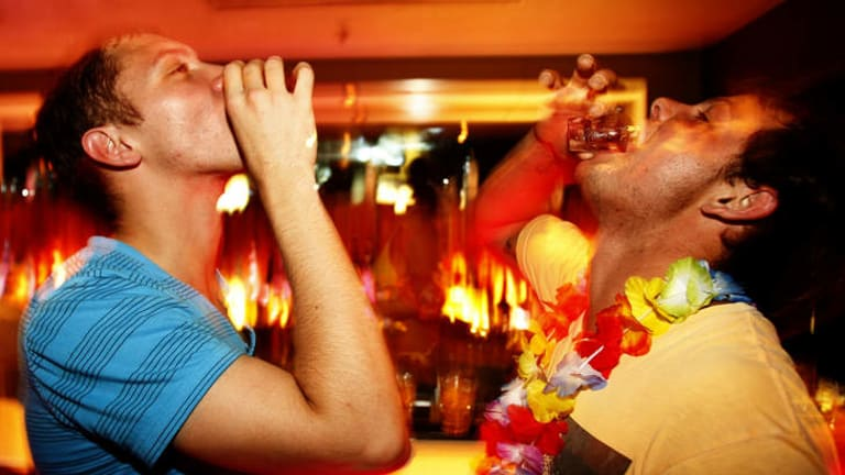 Shot to the heart: It's disturbing to think just how many Australians suffer the short-term effects of alcohol on a regular basis.