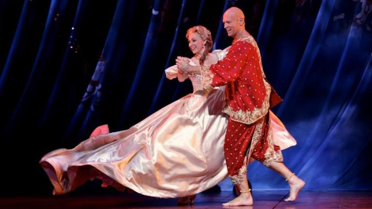 Orientalism criticised: Lisa McCune as Anna and Teddy Tahu Rhodes as the king in The King and I.