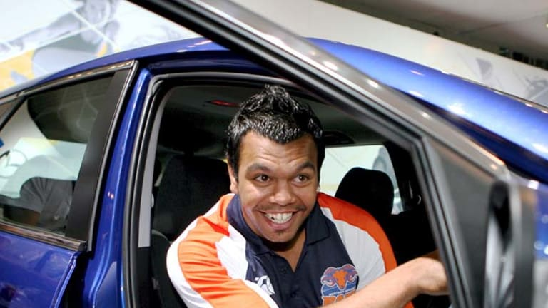 Turbo trouble ... Kurtley Beale won his car in 2007.