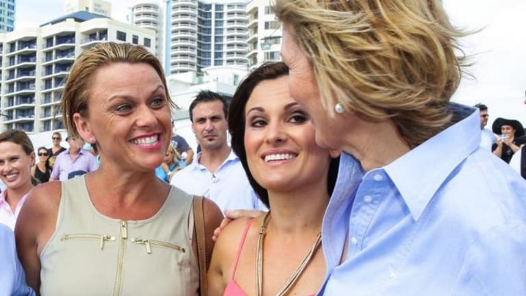 """""""It's become quite addictive"""": Camilla Flower, left, started a racing syndicate with her friends."""