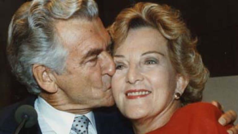 Bob and Hazel Hawke on election night in 1990.