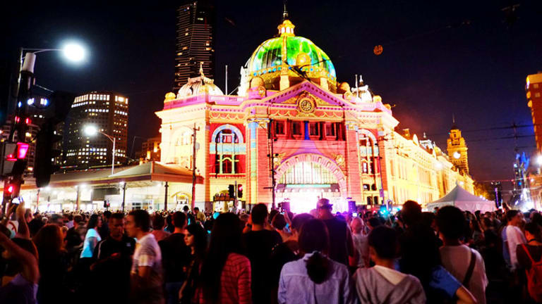 The glorious evening that was Melbourne's White Night Festival, when people reclaimed the city streets from cars.