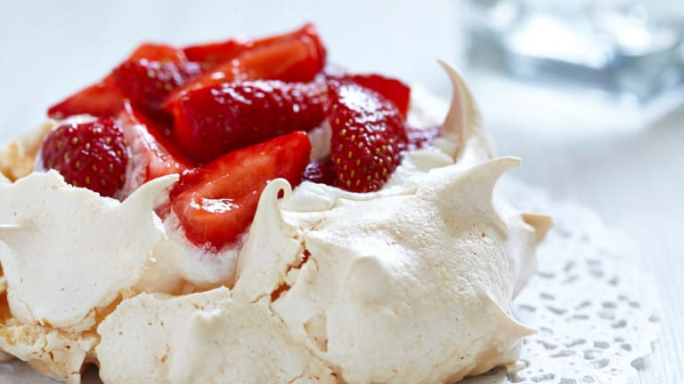 Strawberry pavlova. What's not to love?