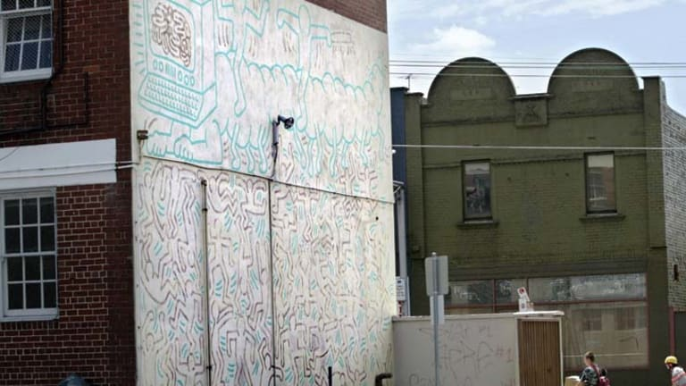 Keith Haring's Collingwood creation that has divided the arts community.