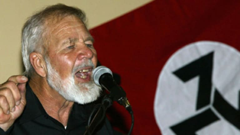 """""""An unarmed white man is a dead white man""""... Eugene Terreblanche looked like a cross between Moses and Mussolini."""