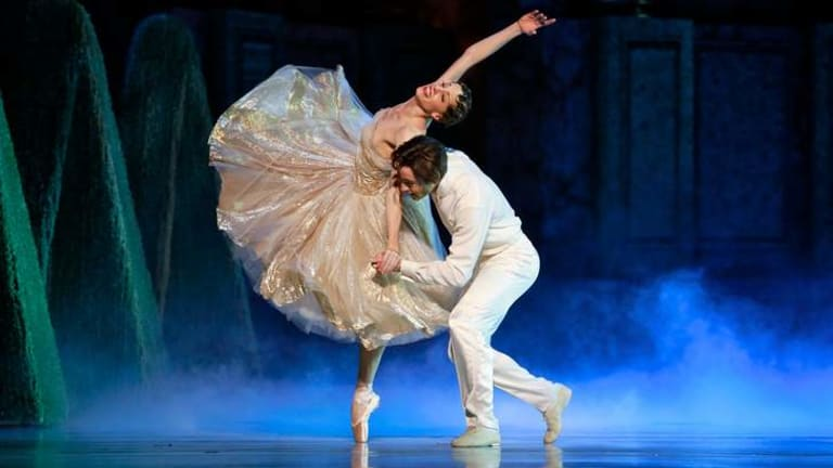 Magical: Leanne Stojmenov as Cinderella with Daniel Gaudiello as the prince.