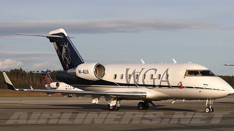 Ahsan Ali Syed's private Bombardier plane.