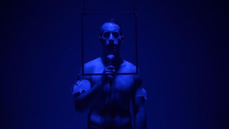 Andrew Schneider plays on the power of technology to augment or disrupt the human form in YOUARENOWHERE.