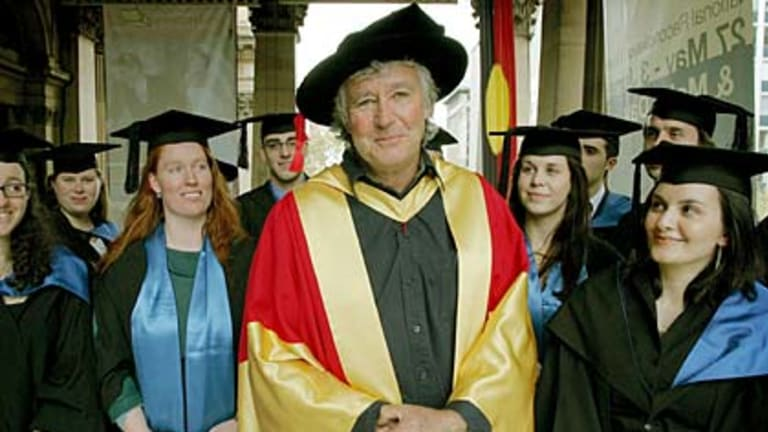 Building imagination... Micheal Leunig, who received an honorary degree from the Australian Catholic University in 2007, home schooled two children.