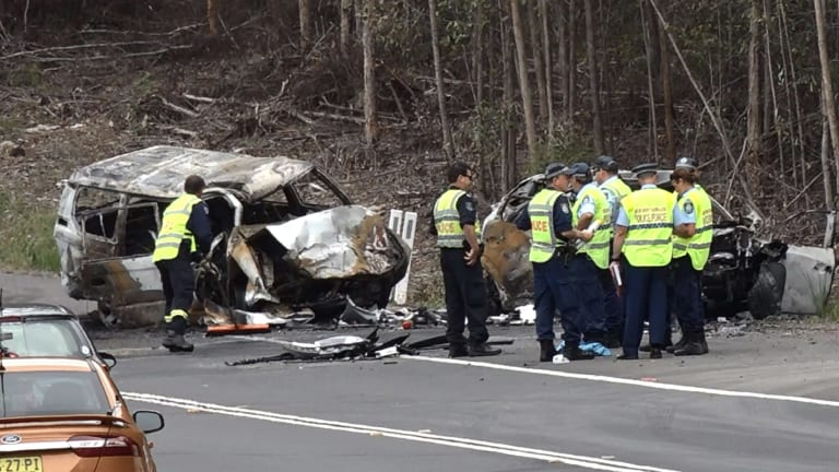 The crash south of Sussex Inlet left three people dead and sisters Jessica and Annabelle Falkholt fighting for their lives.