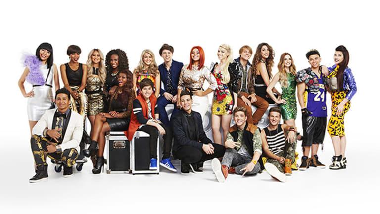 <i>The X Factor</i> final twelve.