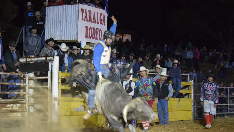 """""""In his blood"""": Mitchell Gajkowski had dreamed of a bull riding career in the US."""