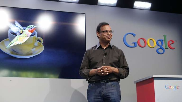 Searching for answers: Amit Singhal, senior vice president of search at Google, introduces the new 'Hummingbird' search algorithm.