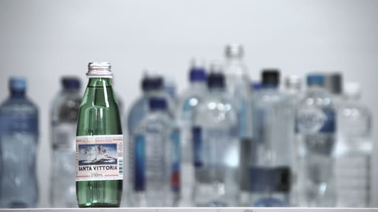 Judging by price per litre, Santa Vittoria 250ml at Woolworths is Sydney's most expensive bottled water.