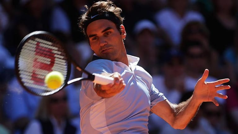 Roger Federer will grace Pat Rafter Arena in January.