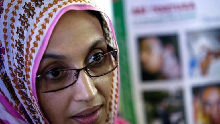 Aminatou Haidar . . . hunger strike.