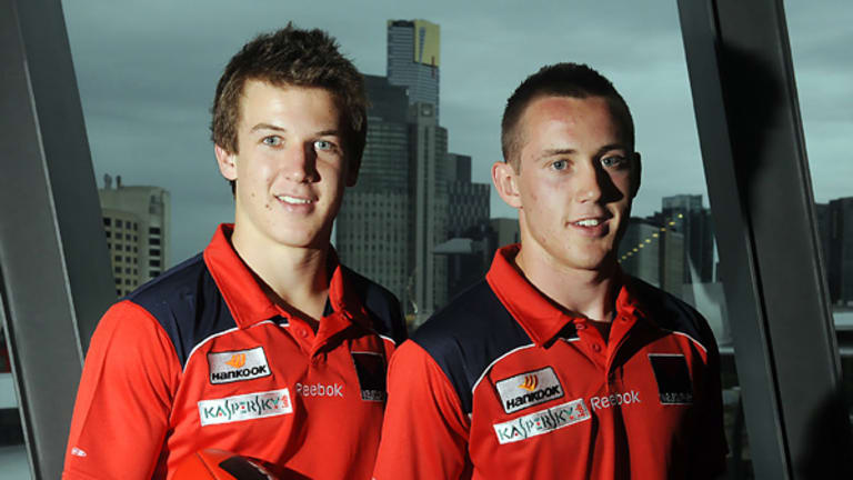 New teammates Jack Trengove and  Tom Scully.