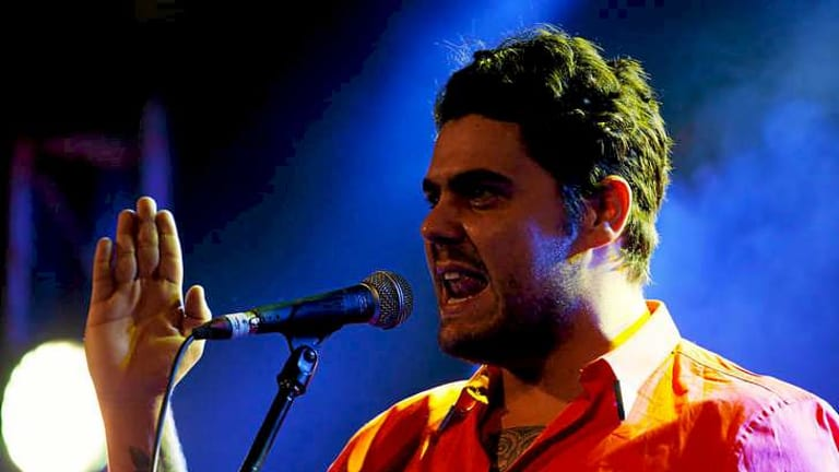Dan Sultan performs at The Age Music Awards 2013.