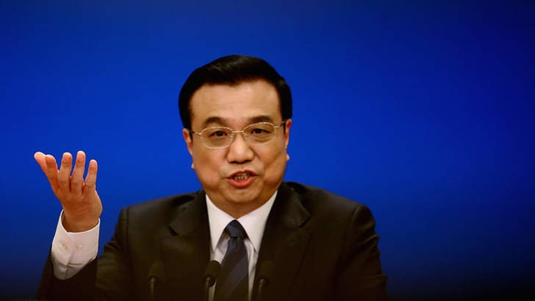 Premier Li Keqiang says the government will no longer fuel the economy.