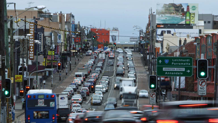 Parramatta Rd could get busier after the first stage of the WestConnex is built.