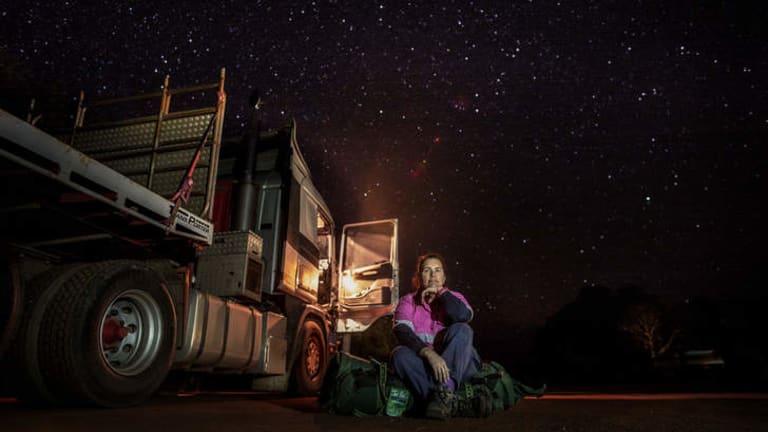 Heather Jones one of the Heavy Haulage Girls, Western Australia.