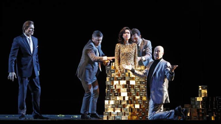 A scene from Das Rheingold in Opera Australia's The Melbourne Ring Cycle.