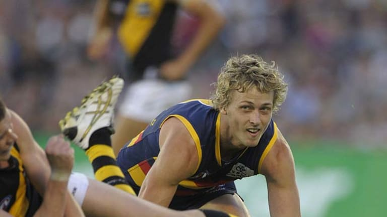 Second course: Former Crow Myke Cook is thriving back in Victoria.