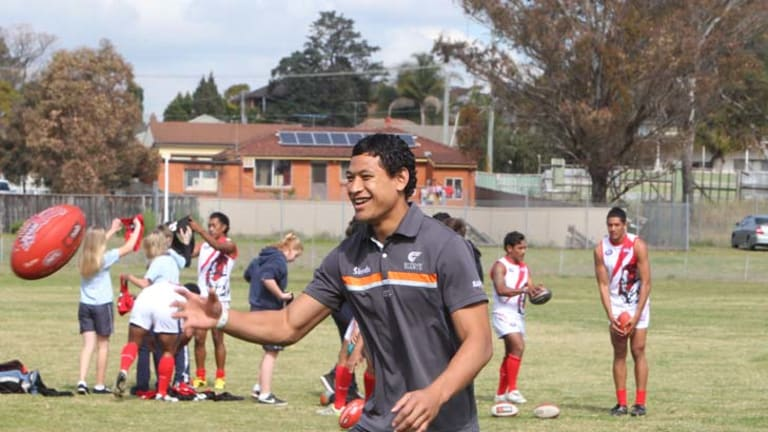 """It's good to go back to where you are from and work with the kids"" ... Israel Folau."